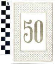 Image of 50th Wedding Anniverary invitation
