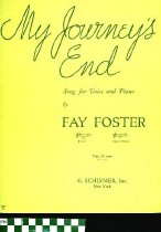 Image of My journey's end. - Foster, Fay,