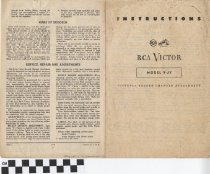 Image of RCA Victor Instructions