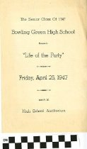 """Image of """"Life of the Party"""" play program, 1947"""