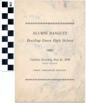 Image of Alumni Banquet program