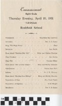 Image of Rockfield School Commencement program