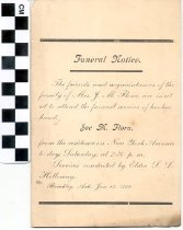 Image of Funeral invitation, 1899