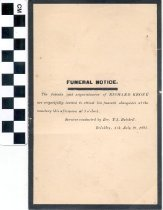 Image of Funeral invitation, 1895