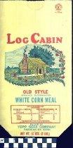 Image of Log Cabin flour bag -