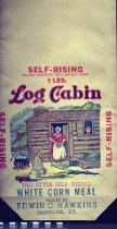 Image of Log Cabin corn meal bag -