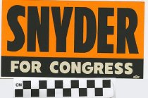 Image of Snyder for Congress