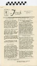 Image of The Torch, Newsletter of Waggener: Trught of our Republic