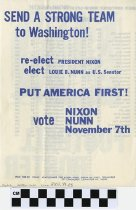 Image of Send A Strong Team to washing Re-Elect Nixon/ Nunn