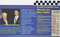 Image of Scott Crosbie for Mayor on May 28th!