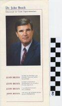 Image of Dr. John Brock, Democrat for State Superintendent