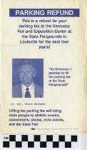 Image of Parking Refund- Lt. Governor Steve beshear