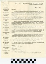 Image of Letter from David Karem asking to give 50 to the Senate Democratic Caucus