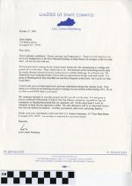 Image of Letter from Louis Combs Weinberg on October 21, 2001