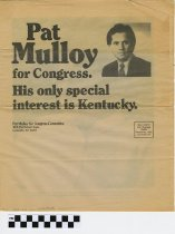 Image of Pat Mulloy for Congress Newsletter