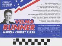 Image of Velma Runner for Warren County Clerk