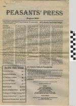 Image of Peasants' Press: August 2001