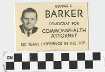 Image of George E. Barker, Democrt, for Commonwealth Attorney