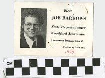 Image of Elect Joe Barrows State Representative