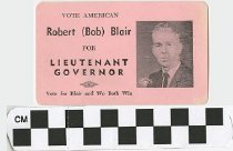 Image of Vote American Robert (Bob) Blair for Lieutenant governor