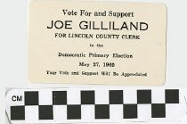 Image of Vote for and support Joe Gilliland for Lincoln County Clerk