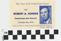Image of Vote Robert Kindler Councilman