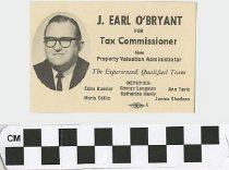 Image of J. Earl O'Bryant for Tax Commissioner