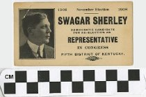 Image of Swagar Sherley for re-election as Congressional representative