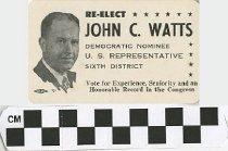 Image of Re-Elect John C. Watts