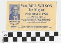 Image of Vote Bill Wilson for Mayor