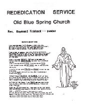 Image of Old Blue Spring Church - Rededication