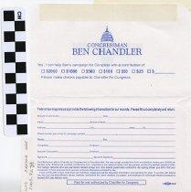 Image of Donation envelop for Congressman Ben Chandler