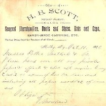 Image of H.B. Scott Letterhead