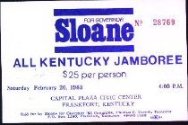 Image of Sloane for Governor All Kentucky Jamboree