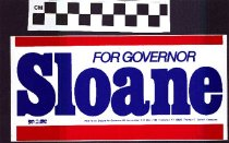 Image of Sloane for Governor