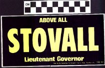Image of Above All Stovall Lieutenant Governor
