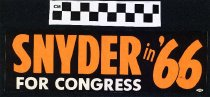 Image of Snyder in '66 For Congress