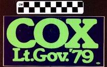 Image of Cox Lt. Gov. '79
