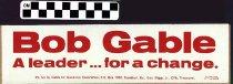 Image of Bob Gable for Governor