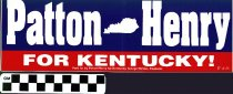 Image of Patton / Henry bumper sticker