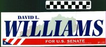 Image of David L. Williams for U.S. Senate [bumper sticker] - David L. Williams for U.S. Senate
