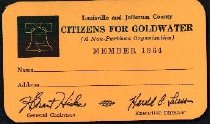 Image of Citizens for Goldwater Member Card