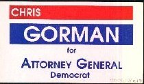 Image of Chris Gorman for Attorney General: Demorcrat