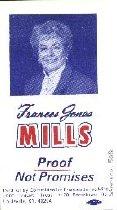 Image of Frances Jones Mills Proof, not Promises