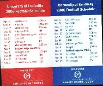 Image of University of Louisville/ Kentucky 2006 Football Schedules