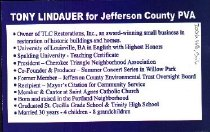 Image of Tony Lindauer for Jefferson County PVA