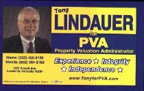 Image of Tony Lindauer for PVA