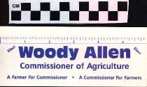 Image of Elect Woody Allen Commissioner of Agriculture