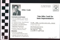 Image of Vote Mike Cook for State Representative: To Westerman Family