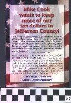 Image of Mike Cook wants to keep more of our Tax dollars in Jefferson County!